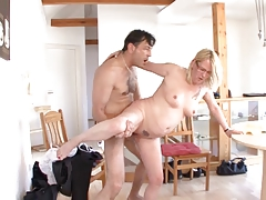Hot german mom vs cock