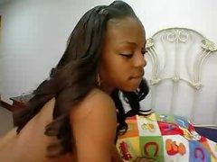 Tight Ebony With White Cock
