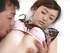 Pretty Japanese Girl's Sexy Hairy Cunt Fucked & Creampied