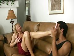 Mature Gives Handjob Worship My Feet And Tits