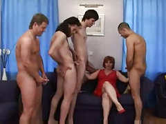Hot Mature Susie and 4 Men Anal DP