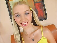 Pigtail Teen Blonde Masturbation
