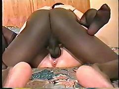 Wet pussy enjoying BBC