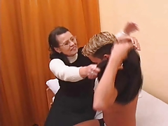 Hairy Granny In Stockings Fucked By Young Man