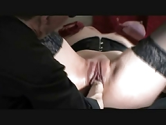 Giant Dildos And Double Fist Fucking With Tightly Bound Tits
