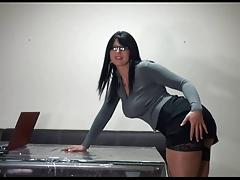 Busty Secretary Fucking In Office