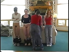 Four Girls Spanked Hard