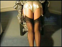 Cream Satin French Knickers