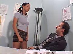 Horny Schoolgirl Gets Her Teacher To Fuck Her