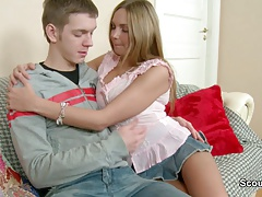 Step Brother Seduce German Sister To Her First Assfuck