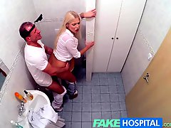 Fakehospital Horny Busty Blonde Receives A Creampie From The Doctor