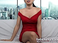 Lelu Love Lady In Red Teases Flashes Sph