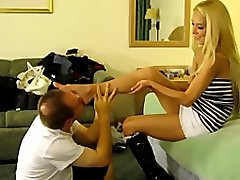 Hot Blond Feet And Sock Worship