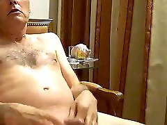 Grandpa Watching Porn Wanking & Orgasm