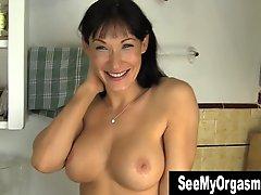 Busty Angela Masturbating Her Snatch