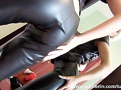 Eroberlin Lola Striptease Czech Teen Leather Fetish Blond Long Hair Skinny