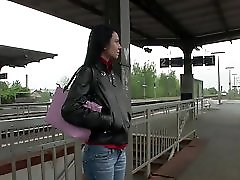 Horny Girl Picked Up At Train Station