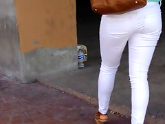 Nice Ass In White Jeans