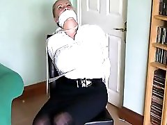 Busty Milf Tied To Chair