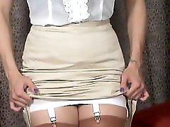 Mj Pencil Silk Skirt Girdle