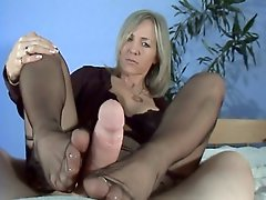 Slow Handjob & Footjob