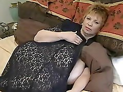 Fat Granny With Massive Mammaries Toying