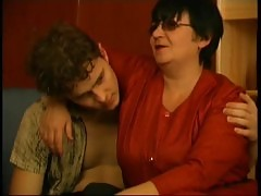 Granny Channel Young Boy Seduced By Short Dark Hair Fat Ugly Old Woman With Glasses