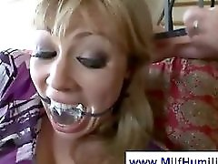Tied Up MILF Gets Fucked In Bizarre Way