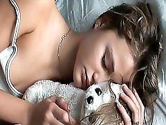 Teen Sleeping With A Teddy Bear