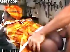 African Girl And Guy Get It On