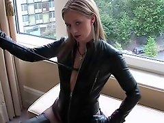 Fetish Lady Ann Long Thighboots Desinger Whipe Domination