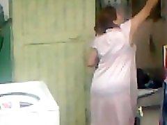 Spying Aunty Ass Washing Big Butt Chubby Plumper Mom