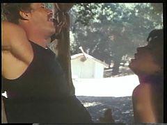 Sexy Slut Sucking Two Big Cocks Outside Then Fucks