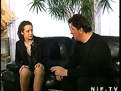 Hairy French MILF In Lingerie Anal Fucked
