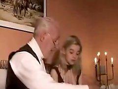 Mature Man Fucks Blonde Teen Girlfriend