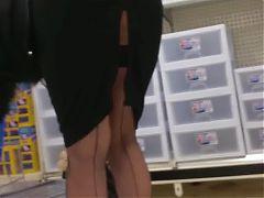 Fishnet Stockings On Fine Ass Milf