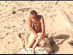 Voyeur On Public Beach Hot Young Couple Sex3