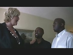Mature Blonde & Two Black Guys 1