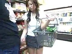Asian Handjob Blowjob in the Grocery Store
