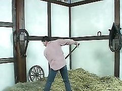 Farmer Brown Jumping In The Hay With A Blonde