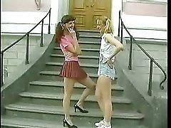 Two Cute Teeny Girl Fucked