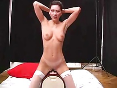 Brunette Rides The Sybian A Second Time