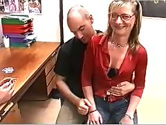 Blonde Milf With Glasses Fucked Hard And Rough