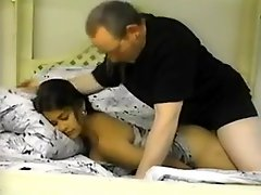 Desi Indian Cutie With An Old Guy