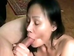 Amateur Mature Asian With Hubby Swallows