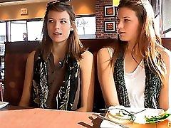 Twins Flashing In Public 01
