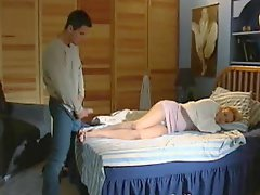 Girl Pretends To Sleep He Unloads On Her Feet