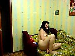 Horny Russian Amateur Brunette Girlfriend Gets Fucked Hard