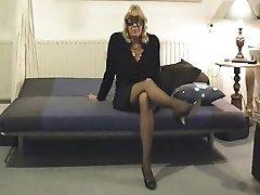 Mature MILF Mom Hairy Vibrator Stockings Amateur