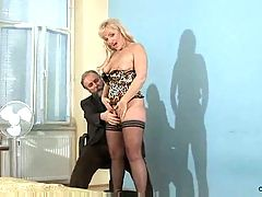 Renata Strips Off And Caresses Her MILF Pussy And Tits